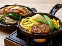 【KURODAKE】<ファイヤーグルメお肉編>エゾシカ肉の鉄板ハンバーグ 和風大根おろしソース味