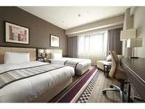 【スタンダードツイン】23.1平米のお部屋に121cmのベッドが2台。
