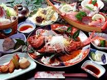 伊豆の味覚金目鯛をまるっと1本煮付けた【金目鯛1本】コース脂ののった美味しい金目鯛を味わいください