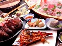 須崎名物「いけんだ煮みそ鍋」に大漁船盛と伊勢海老を付けた【須崎の味わい豪快】コース