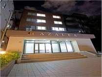ホテルHANABIの夜景でございます。新しくOPENしたREGIDENCEホテルでございます。安くてらくらく施設!!