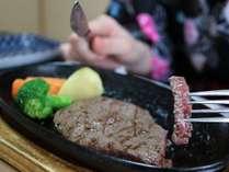 米沢牛ももステーキ! 赤身の肉がウマイ!