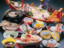 ★1番人気たつみプラン★お造りは舟盛りでボリューム◎◎獲れたて魚介と自家食材をご提供♪