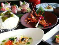 空海懐石:お食事やデザートなど最後まで豪華な自慢の最上級コースです。