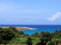 【土盛海岸】当館の目の前は海☆思わずため息がでるほどの美しさです。