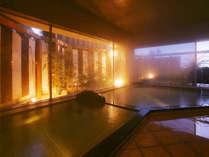 *広々ゆったりの大浴場「鴨川温泉なぎさの湯」
