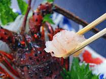*伊勢海老1尾付のお刺身は一例。ぷりっぷりの食感に舌鼓♪