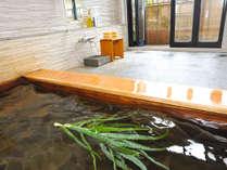 *アロエ貸切風呂/肌表面のハリや弾力を保つ働きがあります