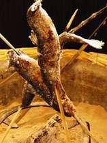 【お料理一例】秩父岩魚の塩焼き