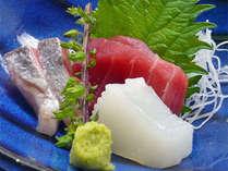 【お料理一例】お刺身は築地市場から仕入れています。