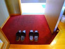 【お部屋・和室】館内はスリッパでご移動下さい。