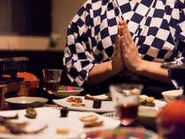 *【夕食一例】見た目もこだわり。目でも愉しむお食事。