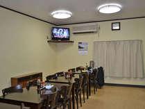 *お食事は食堂にてご用意致します。アットホームな雰囲気の中、温か~いお料理をお出しします♪