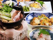 【女将おまかせ】リーズナブルに温泉宿を満喫♪メニューは当日のお楽しみ(カツ煮ver)