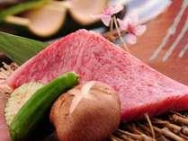 【夕食】A5ランクの黒毛和牛「和王」のステーキ/例