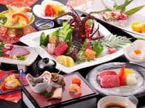 <夕食一例>熊本の豊かな自然が育んだ旬の素材を贅沢に使った上田屋渾身の逸品をご賞味くださいませ