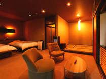 ◆秋錦◆露天風呂付スィート85平米【セミダブルツイン・和洋室】
