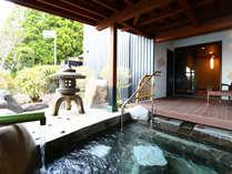 ◆秋錦◆露天風呂付スィート85平米【セミダブルツイン・和洋室】専用露天風呂