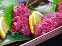 熊本の一皿 馬刺し。熊本の「美味しい」をご堪能下さい。