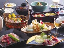 【美山会席】その時期おいしい食材を、色鮮やかに仕上げました