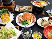 【夕食一例/グレードアッププラン/18年11月から】見た目にもこだわったお料理をご用意しております。