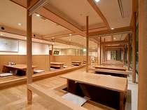 【和食会席料理】会場1F「天正」掘りごたつ式の落ち着いた空間。