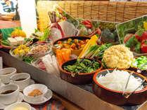 *【和風海鮮バイキング】「磯魚」 新鮮野菜でお口直し