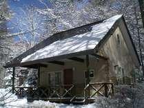 雪景色のB棟
