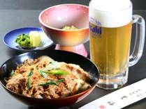 【かつ丼定食】人気No.1のかつ丼定食です!ビールが疲れた体にしみわたります
