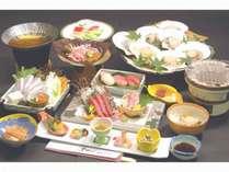 【期間限定】ご堪能あれ!青森が誇る大間のマグロ 絶品鯛しゃぶと陸奥湾産肉厚ホタテの貝焼き御膳!