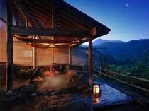 【女性露天】夜は満天の星の下、渓谷美を満喫出来る絶景の露天風呂