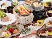 鱈場蟹をメインとして前沢牛の煮物など、旬の食材が満載です!
