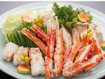 蟹の王様といえばタラバ蟹!ボリューム満点の肉厚のタラバガニ鍋(画像は4人盛り)