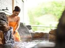 【女性露天】東北でも屈指の泉質を誇る100%の天然温泉。