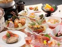 【星の膳】ぷりっぷり♪の鮑&旬魚の陶板焼きがメイン!※写真はイメージです。