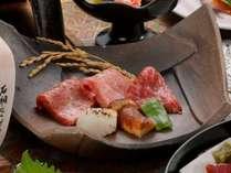 「前沢牛の陶板焼」赤身とサシの食べ比べ!※写真はイメージです。