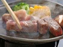 【夕食】黒毛和牛陶板焼き