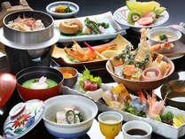【夕食】春野菜・桜海老・旬魚お造りなど美味しいものを少しずつ・・・