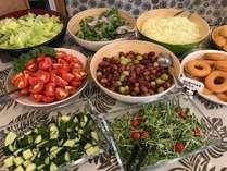 朝食サラダコーナー(無料朝食会場写真のほんの一部です)