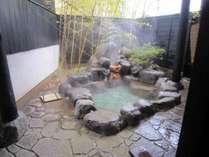 心癒される竹の露天風呂は貸切りでどうぞ。