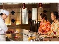~鉄板焼きコース~目の前で調理した伊豆海鮮料理に舌鼓♪