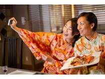 ~海鮮鉄板焼きコース~お料理は見た目も華やかなので女子会にも人気♪