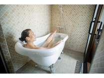 猫足風呂でバスタイム♪