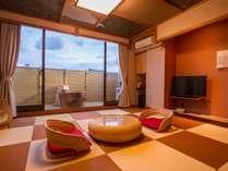 和室10畳露天風呂付客室♪アジアンテイストでお部屋でゆったりタイム★