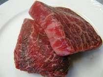 岩手特産黒毛和牛ステーキ(一例)
