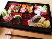 *【夕食一例】ガニ湯本舗「天風庵」のおまかせ懐石弁当♪