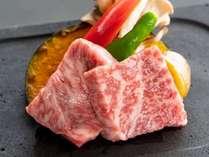 一番人の特選国産黒毛和牛のサーロインステーキ付きのプランです。