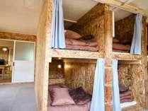 ゲストハウスのベッドルームです。