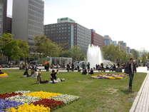 春の大通公園です