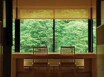 【お食事処「湯の里」】カウンター席イメージ。景観を眺めながら、美食をご堪能ください。
